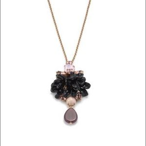 J. Crew Tortoise Crystal Pendant Necklace